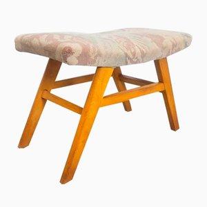 Vintage Pastel Beech Footstool, 1960s