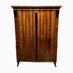Biedermeier Armoire in Walnut & Birch Roots Veneer, South Germany, 1820s