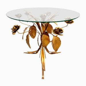 Mid-Century Gold Gilded Coffee Table by Hans Koghl, 1960s