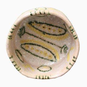 Dekorative italienische Mid-Century Schale aus Keramik von Guido Gambone, 1950er
