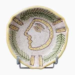 Mid-Century Italian Decorative Ceramic Bowl by Guido Gambone, 1950s