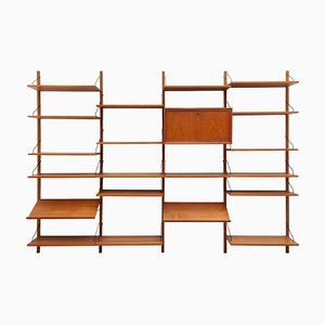 Mid-Century Modern Danish Modular Wall Unit Royal System by Poul Cadovius, 1960s