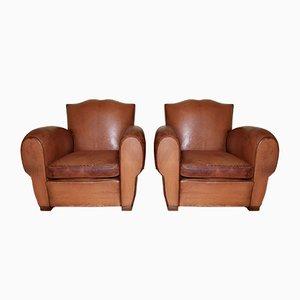 Sessel mit Schnurrbartleisten, 1930er, 2er Set