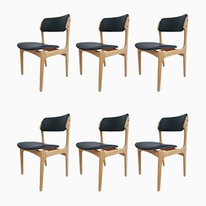 Danish Oak Dining Chairs by Erik Buch, 1960s, Set of 6