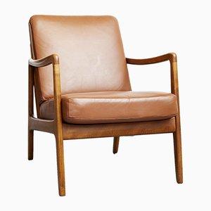 Danish FD109 Easy Chair by Ole Wanscher for France & Daverkosen, 1950s