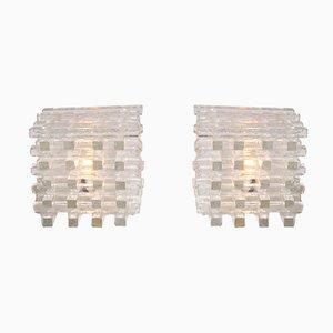 Lampes de Bureau Sculpturales Mid-Century en Verre de Murano de Poliarte, Set de 2