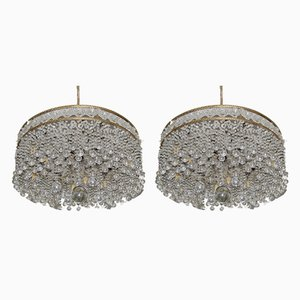 Crystal Chandeliers, 1930s, Set of 2