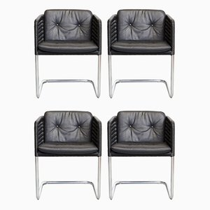 Mid-Century D43 Cantilever Chairs by William Dunkel for Tecta, Set of 4
