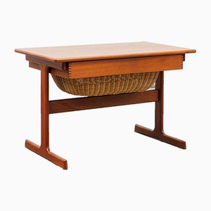 Danish Side or Sewing Table from Vildbjerg Møbelfabrik, 1960s