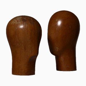 Cabezas esculturales Mid-Century. Juego de 2