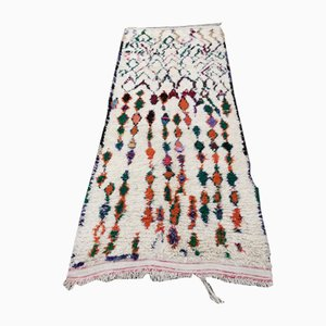 Großer Beiger Vintage Teppich