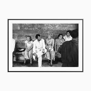 Director and Star Silver Fibre Gelatin Print Framed in Black by Slim Aarons