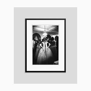 Debutante Ball Silver Fibre Gelatin Print Framed in Black by Slim Aarons