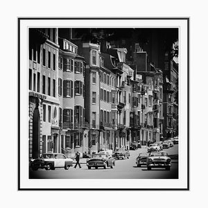 Gerahmter Boston Street Scene Silber Faser Gelatine Druck von Slim Aarons