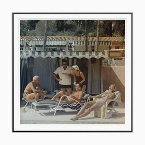Summer in Monaco Oversize C Print Framed in Black by Slim Aarons