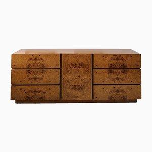 Mid-Century Deko Wurzelholz & Nussholz Sideboard mit Schubladen von Lane Furniture, 1970er