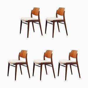 Chaises de Salon par Hartmut Lohmeyer pour Wilkhahn, 1950s, Set de 5