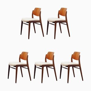 Dining Chairs by Hartmut Lohmeyer for Wilkhahn, 1950s, Set of 5