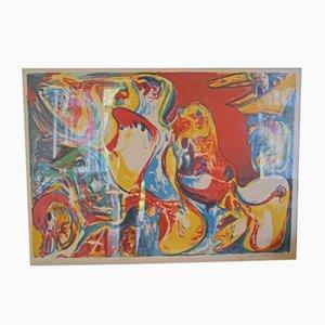 Lithographie par Finn Pedersen pour Finn Pedersen, 1980s