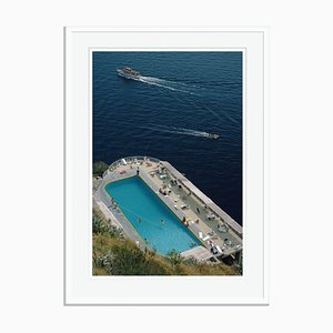 Belvedere Pool Oversize C Print Framed in White by Slim Aarons