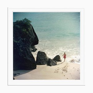 Bermuda Beach Oversize C Print Framed in White by Slim Aarons