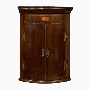 Antique English Mahogany Corner Cabinet