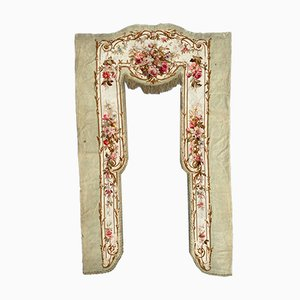 Antique French Aubusson Valance Tapestry