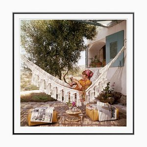 Bettina Graziani Oversize C Print Framed in Black by Slim Aarons