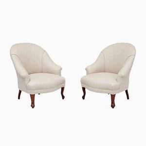 Upholstered Armchairs, Set of 2