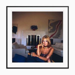 Britt Ekland Oversize C Print Framed in Black by Slim Aarons
