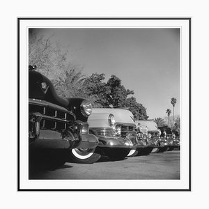 Cadillac Cars Silver Fibre Gelatin Print Framed in Black by Slim Aarons