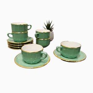 Tasses à Café & Soucoupes Vintage par Yves Deshoulieres