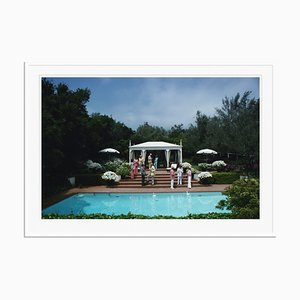 California Garden Party Oversize C Print Framed in White by Slim Aarons