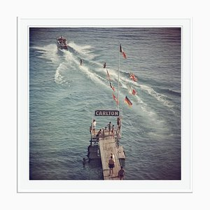 Cannes Watersports Oversize C Print Framed in White by Slim Aarons