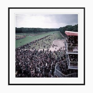 Chantilly Racecourse Oversize C Print Framed in Black by Slim Aarons