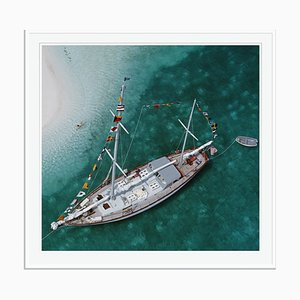 Charter Ketch Oversize C Print Framed in White by Slim Aarons