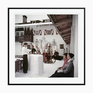 Chilled Beverages Oversize C Print Framed in Black by Slim Aarons