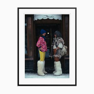 Cortina d'Ampezzo Oversize C Print Framed in Black by Slim Aarons