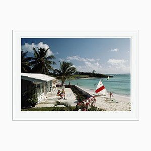 Cotton Bay Club Oversize C Print Framed in White by Slim Aarons