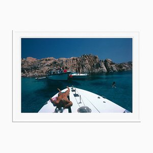 Countess on Deck Oversize C Print Framed in White by Slim Aarons