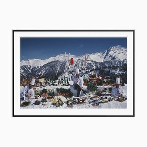 Culinary Heights Oversize C Print Framed in Black by Slim Aarons