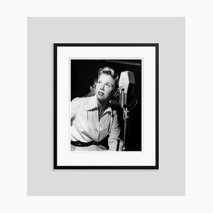 Doris Day in the Recording Studio Archival Pigment Print Framed in Black by Everett Collection