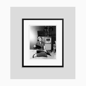 Doris Day and Her Record Collection Archival Pigment Print Framed in Black by Everett Collection