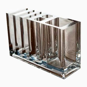 Lucite Pen & Note Holder from Guzzini