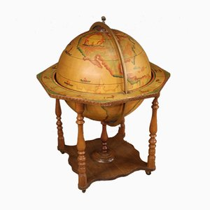 Italian Wood Globe Bar Cabinet, 1960s