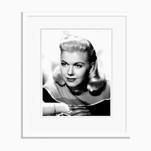 Doris Day Photographic Portrait Archival Pigment Print Framed in White by Everett Collection