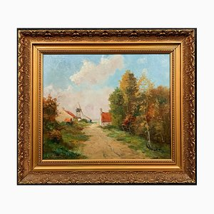 Landscape Oil on Canvas by Alfred Louis Martin