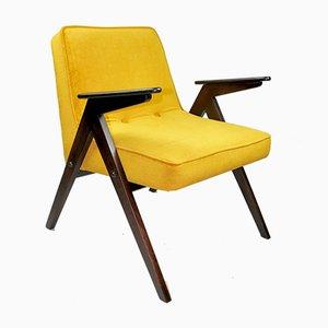 Gold Yellow Armchair by Józef Chierowski, 1970s