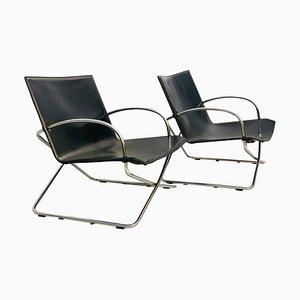 Mid-Century Modern Italian Armchairs, Set of 2