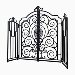 French Wrought Iron Gate, 1950s